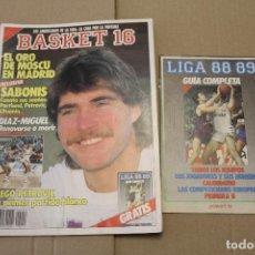 Coleccionismo deportivo: BASKET 16 Nº 54, LLEVA LA GUÍA COMPLETA 88/89, REVISTA DE BASKET. Lote 225044766