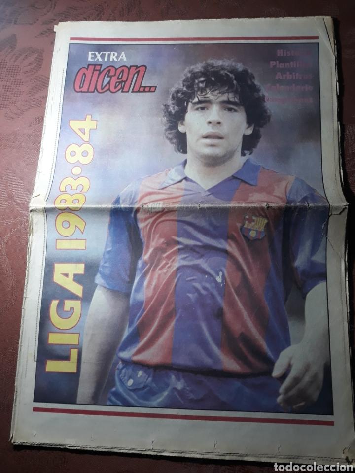 EXTRA DICEN . LIGA 1983- 84 . MARADONA ..POSTER DEL F C BARCELONA 1983 -84 (Coleccionismo Deportivo - Revistas y Periódicos - otros Deportes)