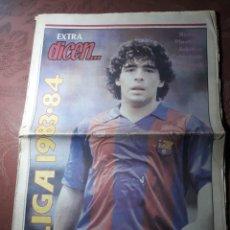 Coleccionismo deportivo: EXTRA DICEN . LIGA 1983- 84 . MARADONA ..POSTER DEL F C BARCELONA 1983 -84. Lote 227088970