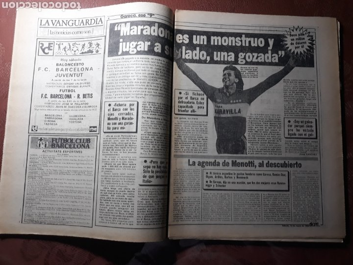 Coleccionismo deportivo: DIARIO DICEN N° 5705. 12 DE MARZO DE 1983 . MENOTTI- MARADONA . HOY NACE UN NUEVO BARCA - Foto 6 - 227094950