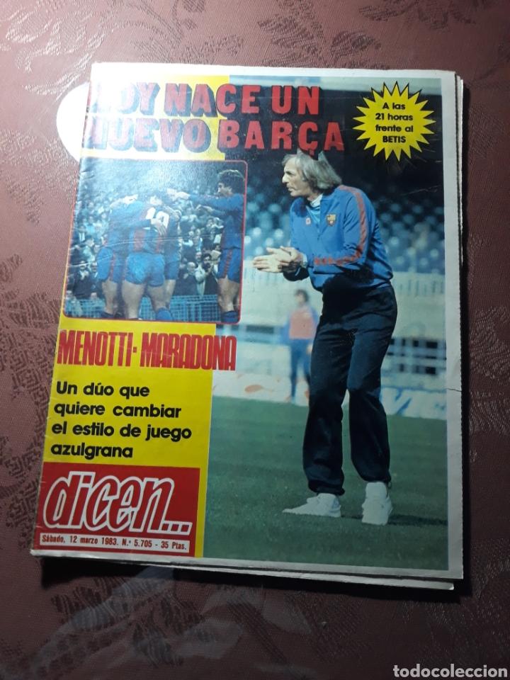 DIARIO DICEN N° 5705. 12 DE MARZO DE 1983 . MENOTTI- MARADONA . HOY NACE UN NUEVO BARCA (Coleccionismo Deportivo - Revistas y Periódicos - otros Deportes)