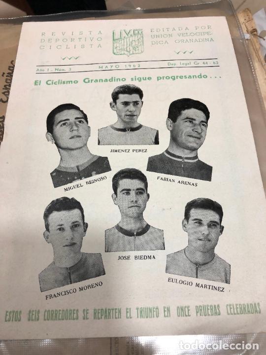 Coleccionismo deportivo: EL CICLISMO GRANADINO SIGUE PROGRESANDO MAYO (1962) REVISTA EDITADA EN GRANADA - Foto 2 - 227210060