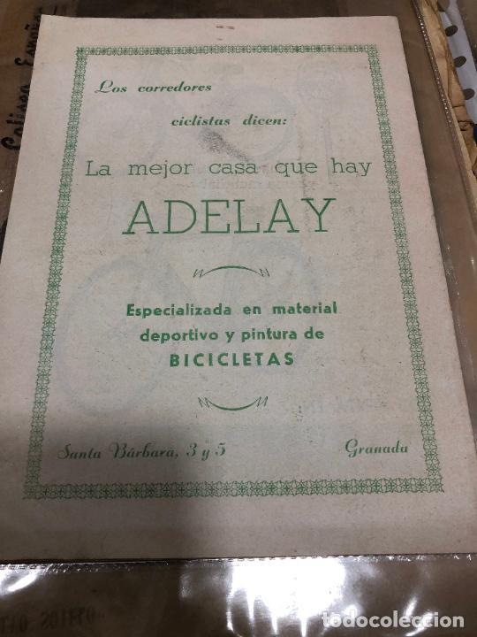 EL CICLISMO GRANADINO SIGUE PROGRESANDO MAYO (1962) REVISTA EDITADA EN GRANADA (Coleccionismo Deportivo - Revistas y Periódicos - otros Deportes)