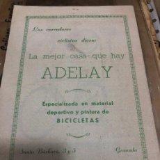 Coleccionismo deportivo: EL CICLISMO GRANADINO SIGUE PROGRESANDO MAYO (1962) REVISTA EDITADA EN GRANADA. Lote 227210060