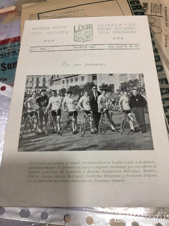REVISTA DEPORTIVA EDITADA POR UNION VELOCIPEDICA GRANADINA POR VEZ PRIMERA (Coleccionismo Deportivo - Revistas y Periódicos - otros Deportes)
