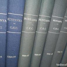 Coleccionismo deportivo: REVISTA MUNTANYA CENTRE EXCURSIONISTA DE CATALUNYA ANYS 1978 A 1991 (RELLIGAT EN 7 VOLS). Lote 295839113