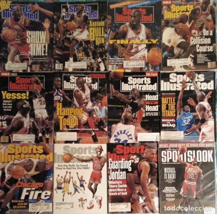 MICHAEL JORDAN - LOTE DE 14 REVISTAS AMERICANAS ''SPORTS ILLUSTRATED'', ETC. (1989-98) + ESPECIAL (Coleccionismo Deportivo - Revistas y Periódicos - otros Deportes)