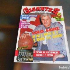 Coleccionismo deportivo: REVISTA GIGANTES DEL BASKET Nº 67 (16 DE FEBRERO DE 1987), LOLO SAINZ - NO HAY POSTER -. Lote 229035850