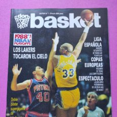 Coleccionismo deportivo: REVISTA DON BASKET 1988 EXTRA Nº 1 FINAL NBA 87/88 LAKERS POSTER GIGANTE JABBAR MAGIC JOHNSON. Lote 229102385