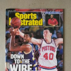 Coleccionismo deportivo: REVISTA / MAGAZINE: SPORTS ILLUSTRATED - 27 JUNIO 1988 - FINAL NBA. SENNA, PROST.... - IDIOMA INGLES. Lote 229368650