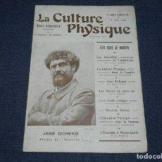 Coleccionismo deportivo: (M) REVISTA LA CULTURE PHYSIQUE N.80 MAI 1908 - FOOTBALL EQUIPE NATIONALE BELGE, NATIONALE FRANÇAISE. Lote 230384385