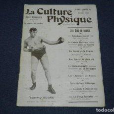 Coleccionismo deportivo: (M) REVISTA LA CULTURE PHYSIQUE N.81 MAI 1908 - TOMMY BURNAS CHAMPION DU MONDE DE BOXE. Lote 230384670