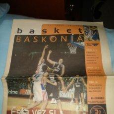 Colecionismo desportivo: FOLLETO PERIÓDICO BASKET BASKONIA - JUNIO 2001. Lote 231424250