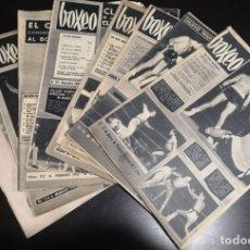 Coleccionismo deportivo: BOXEO LOTE DE 8 ANTIGUAS REVISTAS AÑOS 60. Lote 235610145