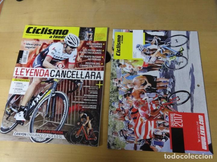 CICLISMO A FONDO 386 + CALENDARIO EKOI. LEYENDA CANCELLARA, PRUEBA DE LA CANYON CF SLX 9.0 SL (Coleccionismo Deportivo - Revistas y Periódicos - otros Deportes)