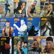 Coleccionismo deportivo: JEAN CLAUDE VAN DAMME - 13 (+1) REVISTAS DE ARTES MARCIALES ''DOJO'' (1990-1997). Lote 236670715
