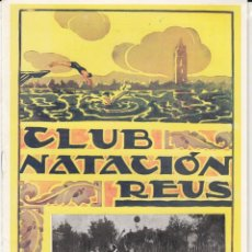 Collectionnisme sportif: REVISTA CLUB NATACIÓN REUS PLOMS NUM. 12 1946. Lote 236748460