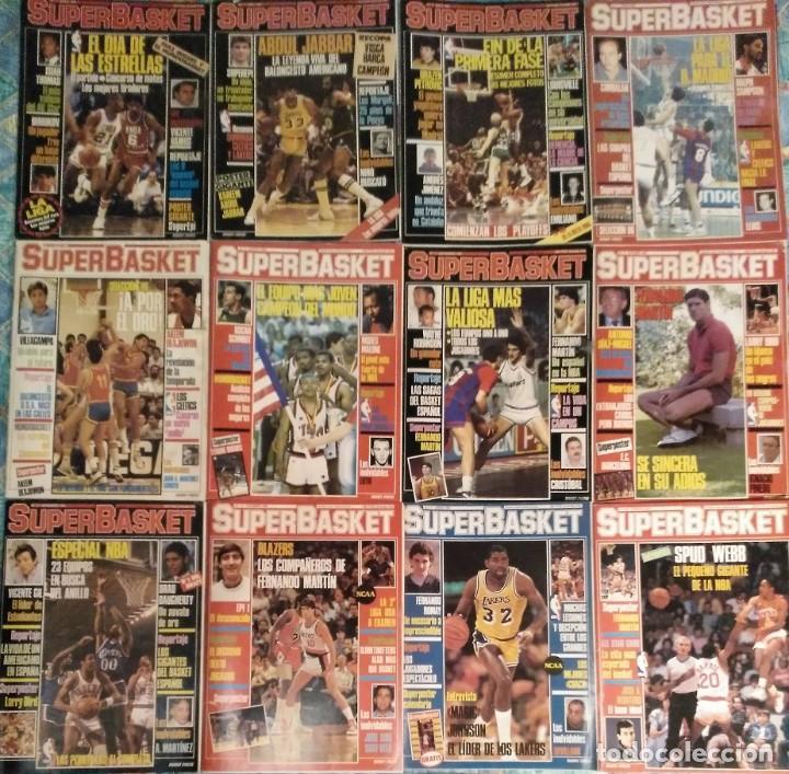 REVISTAS ''SUPERBASKET'' - 12 PRIMEROS NÚMEROS (1986-1987) (Coleccionismo Deportivo - Revistas y Periódicos - otros Deportes)