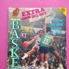 Coleccionismo deportivo: REVISTA NUEVO BASKET EXTRA Nº 1 1985 COPA DEL REY BALONCESTO 85 - POSTER REAL MADRID CAMPEON. Lote 236953780