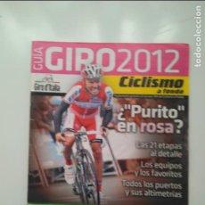 Coleccionismo deportivo: CICLISMO A FONDO GUIA GIRO 2012. POSTER MICHELE SCARPONI... PERFECTO ESTADO. Lote 236976315