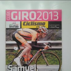 Coleccionismo deportivo: CICLISMO A FONDO GUIA GIRO 2013. POSTER VINCENZO NIBALI. PERFECTO ESTADO. Lote 236976815