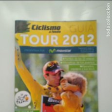 Coleccionismo deportivo: CICLISMO A FONDO GUIA TOUR DE FRANCIA 2012. POSTER ALEJANDRO VALVERDE PERFECTO ESTADO. Lote 236985745