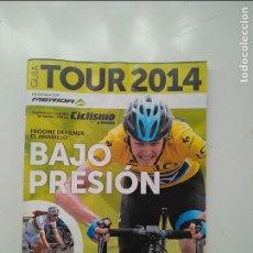 Coleccionismo deportivo: CICLISMO A FONDO GUIA TOUR DE FRANCIA 2014. POSTER RUI COSTA. PERFECTO ESTADO. Lote 236986140
