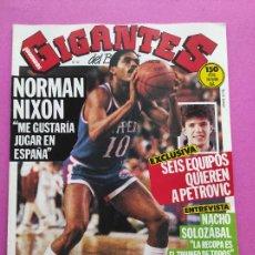 Coleccionismo deportivo: REVISTA GIGANTES BASKET Nº 22 1986 POSTER NIXON CLIPPERS NBA - PETROVIC - SOLOZABAL - ITURRIAGA. Lote 237262710