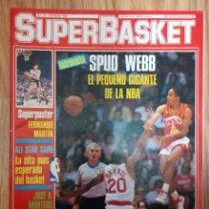 Coleccionismo deportivo: REVISTA SUPER BASKET SUPERBASKET NÚMERO 12 FEBRERO 1987 SPUD WEBB POSTER FERNANDO MARTIN. Lote 237388260