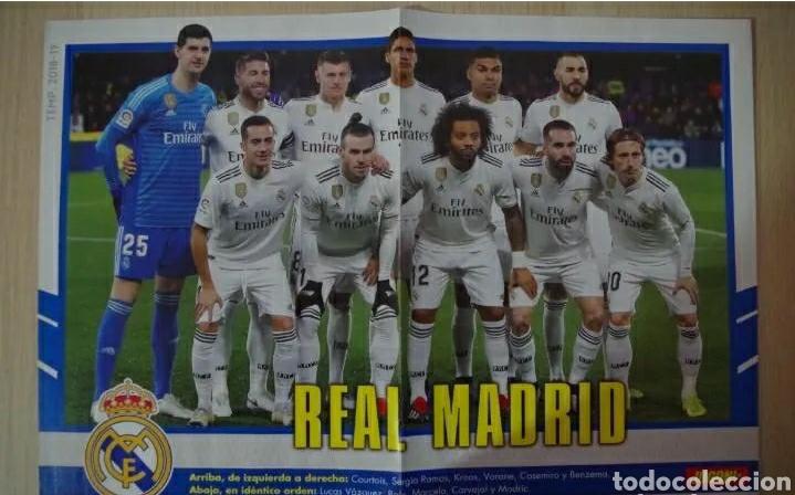 POSTER REAL MADRID JUGON 2018 30X45 (Coleccionismo Deportivo - Revistas y Periódicos - otros Deportes)