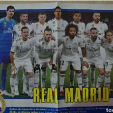 Coleccionismo deportivo: POSTER REAL MADRID JUGON 2018 30X45. Lote 237392540