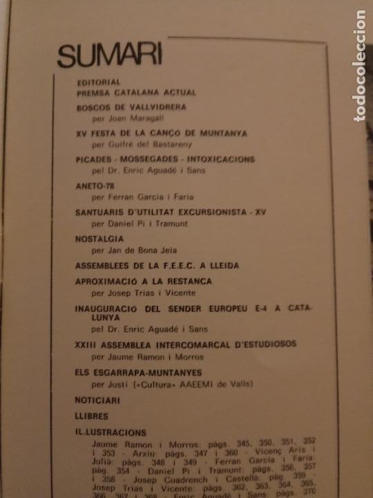 Coleccionismo deportivo: VÈRTEX Nº 70 - FEDERACIÓ ENTITATS EXCURSIONISTES CATALUNYA - 1979 - Foto 2 - 237439620