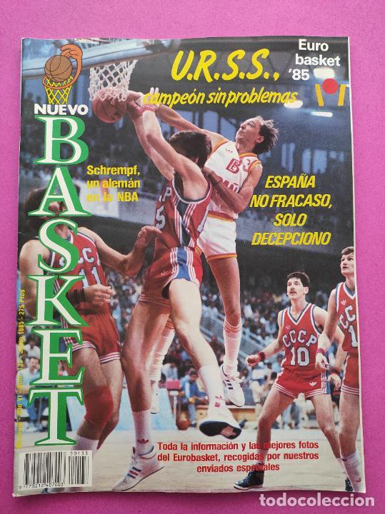 Coleccionismo deportivo: REVISTA NUEVO BASKET Nº 133 1985 EUROBASKET 85 - POSTER SELECCION ESPAÑOLA - ANDRES JIMENEZ - Foto 2 - 237487600
