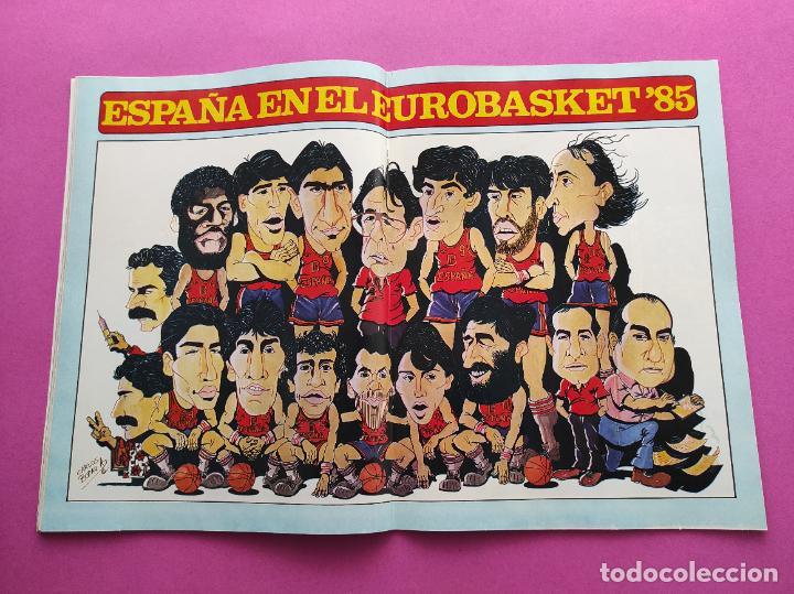REVISTA NUEVO BASKET Nº 133 1985 EUROBASKET 85 - POSTER SELECCION ESPAÑOLA - ANDRES JIMENEZ (Coleccionismo Deportivo - Revistas y Periódicos - otros Deportes)