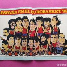Coleccionismo deportivo: REVISTA NUEVO BASKET Nº 133 1985 EUROBASKET 85 - POSTER SELECCION ESPAÑOLA - ANDRES JIMENEZ. Lote 237487600