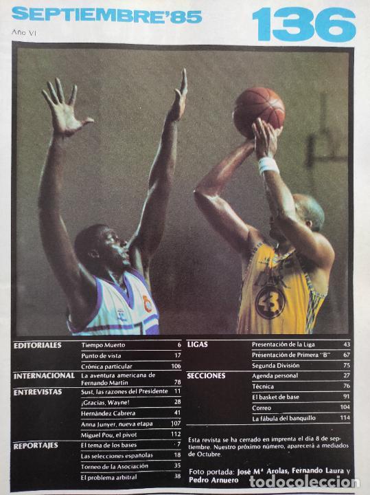 Coleccionismo deportivo: REVISTA NUEVO BASKET Nº 136 1985 FERNANDO MARTIN CAMPUS NETS POSTER REAL MADRID BRABENDER LIGA 85/86 - Foto 2 - 237488440