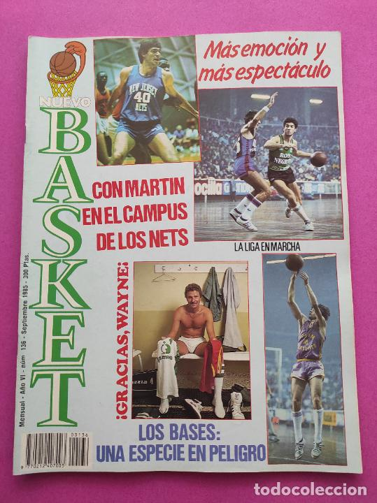 REVISTA NUEVO BASKET Nº 136 1985 FERNANDO MARTIN CAMPUS NETS POSTER REAL MADRID BRABENDER LIGA 85/86 (Coleccionismo Deportivo - Revistas y Periódicos - otros Deportes)