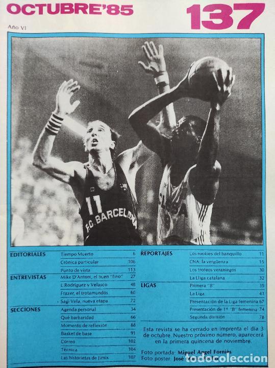 Coleccionismo deportivo: REVISTA NUEVO BASKET Nº 137 1985 POSTER MIKE PHILLIPS JUVER ESPAÑOL - ROLANDO FRAZER - MIKE DANTONI - Foto 2 - 237489085