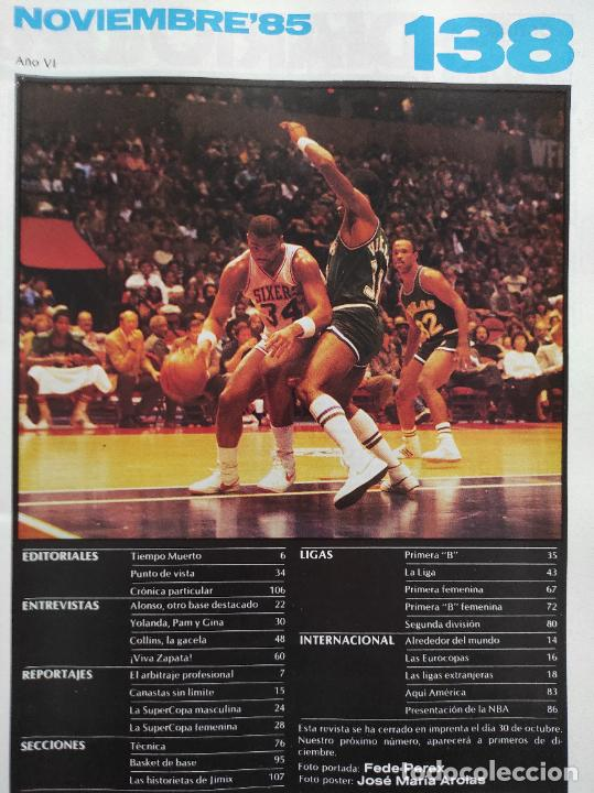 Coleccionismo deportivo: REVISTA NUEVO BASKET Nº 138 1985 POSTER NATE DAVIS CLESA FERROL - NBA 85/86 - Foto 2 - 237489370