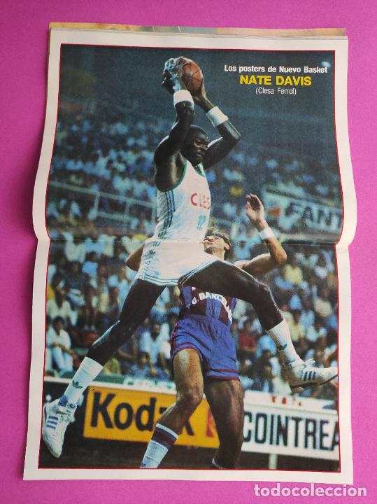 Coleccionismo deportivo: REVISTA NUEVO BASKET Nº 138 1985 POSTER NATE DAVIS CLESA FERROL - NBA 85/86 - Foto 3 - 237489370