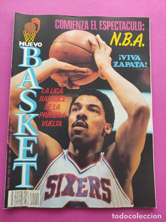 REVISTA NUEVO BASKET Nº 138 1985 POSTER NATE DAVIS CLESA FERROL - NBA 85/86 (Coleccionismo Deportivo - Revistas y Periódicos - otros Deportes)