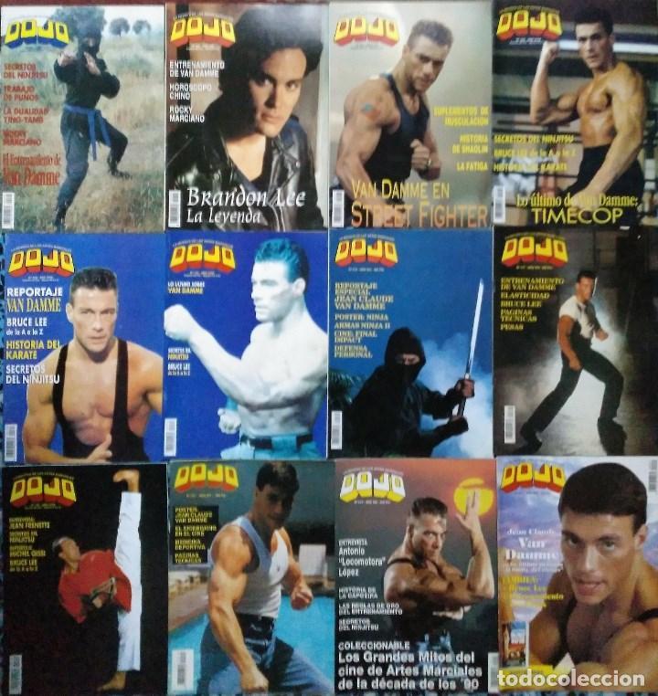 JEAN CLAUDE VAN DAMME - 13 (+1) REVISTAS DE ARTES MARCIALES ''DOJO'' (1990-1997) (Coleccionismo Deportivo - Revistas y Periódicos - otros Deportes)