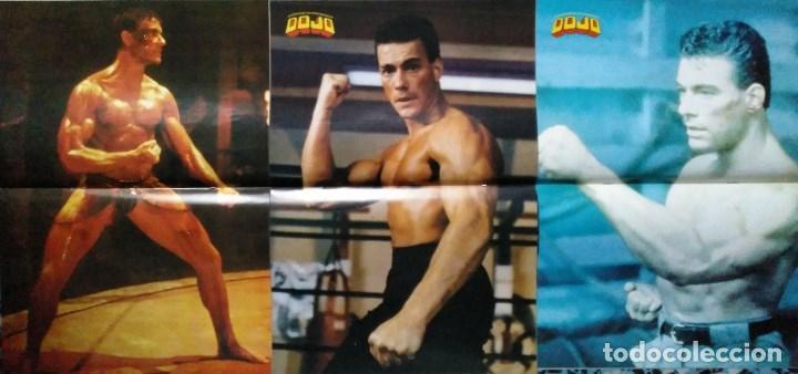 Coleccionismo deportivo: Jean Claude Van Damme - 13 (+1) revistas de artes marciales Dojo (1990-1997) - Foto 2 - 238350190