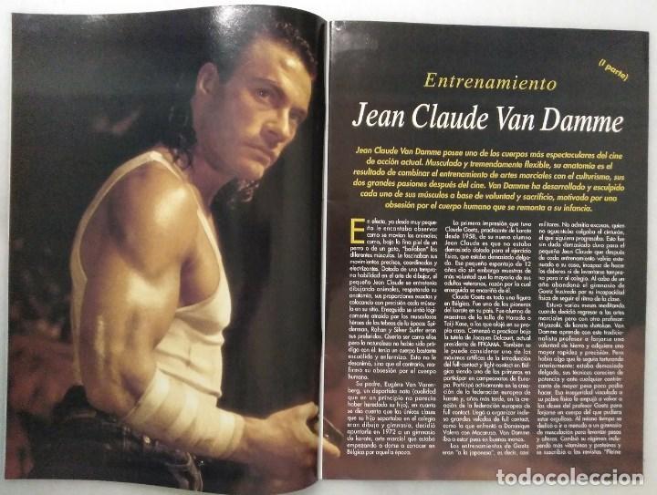 Coleccionismo deportivo: Jean Claude Van Damme - 13 (+1) revistas de artes marciales Dojo (1990-1997) - Foto 3 - 238350190