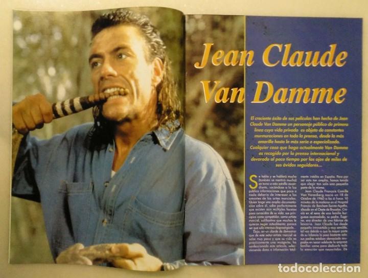 Coleccionismo deportivo: Jean Claude Van Damme - 13 (+1) revistas de artes marciales Dojo (1990-1997) - Foto 6 - 238350190