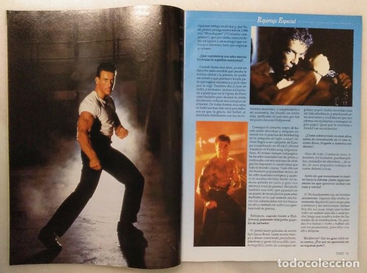 Coleccionismo deportivo: Jean Claude Van Damme - 13 (+1) revistas de artes marciales Dojo (1990-1997) - Foto 7 - 238350190