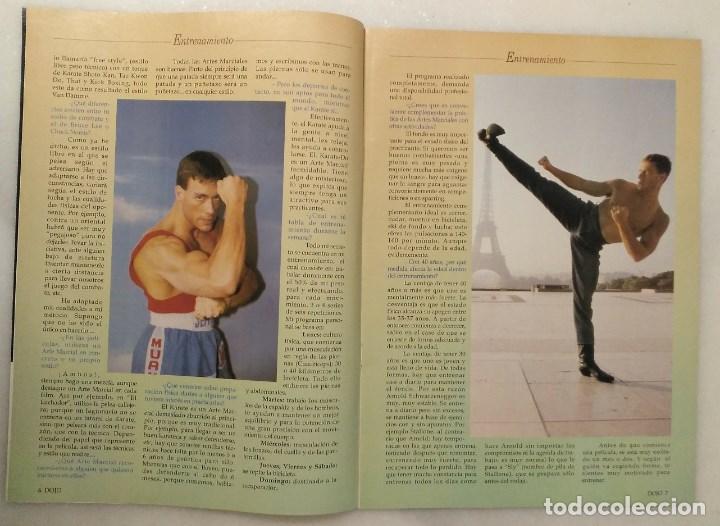 Coleccionismo deportivo: Jean Claude Van Damme - 13 (+1) revistas de artes marciales Dojo (1990-1997) - Foto 8 - 238350190
