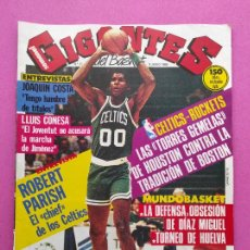 Coleccionismo deportivo: REVISTA GIGANTES BASKET Nº 31 1986 POSTER REAL MADRID CAMPEON LIGA 85/86 - PARISH CELTICS NBA. Lote 241004960