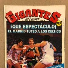 Coleccionismo deportivo: GIGANTES DEL BASKET N° 156 (1988). POSTER BOSTON CELTICS, OPEN MCDONALDS CELTICS - MADRID. Lote 243814995