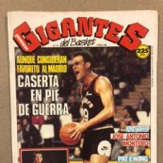 Coleccionismo deportivo: GIGANTES DEL BASKET N° 175 (1989). POSTER JOSÉ ANTONIO MONTERO, VICENTE GIL, EWING,.... Lote 243818060